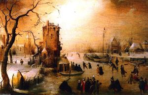 Hendrick Avercamp - winter szene