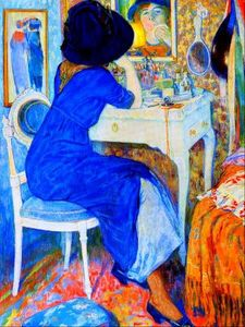 Leo Gestel - Woman at Makeup Table (auch als Lisette bekannt zu Toilette)
