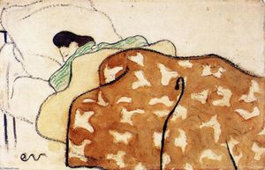 Jean Edouard Vuillard - Woman in Bed