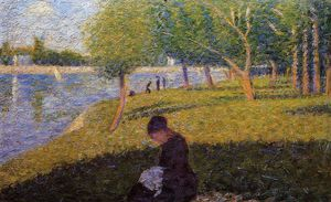 Georges Pierre Seurat - Woman Sewint