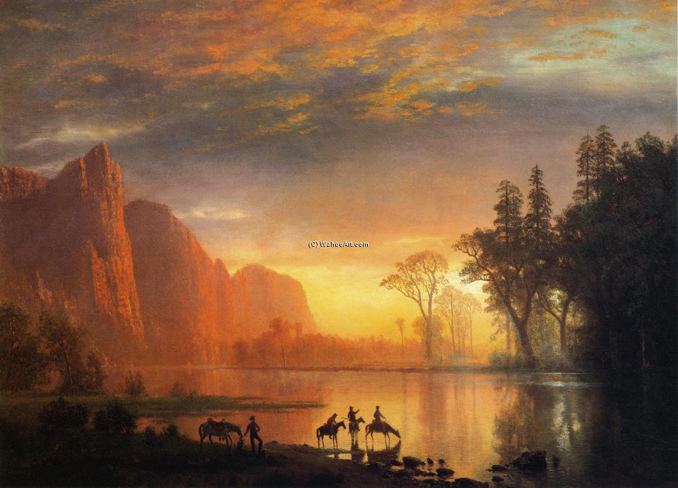 Yosemite Valley Sunset, 1865 von Albert Bierstadt (1830-1902, Germany) | WahooArt.com