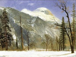 Albert Bierstadt - winter in yosemite Tal