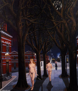 Paul Delvaux - Die Beautiful Night