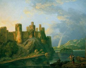 George Barret The Elder - Conway Castle -