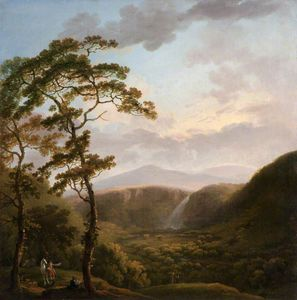 George Barret The Elder - wasserfall bei  Powers