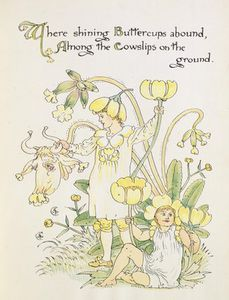 Walter Crane - Der Buttercup And The Cowslip