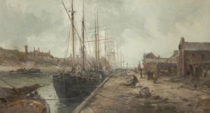 William Edward Webb - Peel Kai und Hafen