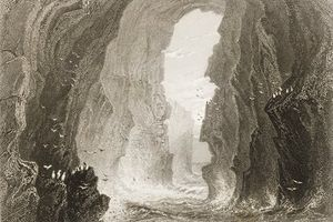William Henry Bartlett - Dunkerry Cave