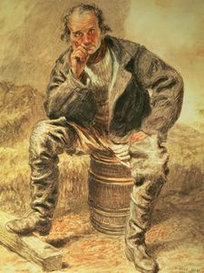 William Henry Hunt - ein oysterman ,