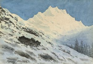William Percy French - Alpenlandschaft