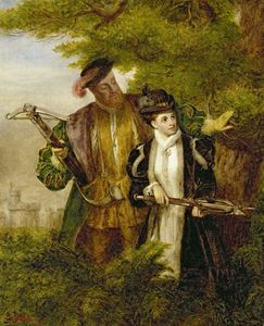 William Powell Frith - König Heinrich und Anne Boleyn Deer Shooting