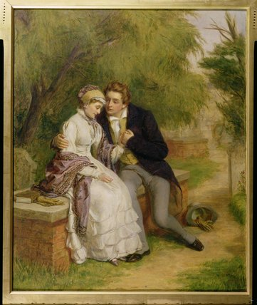 Die Geliebten Sitz von William Powell Frith (1819-1909, United Kingdom)