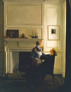 William Rothenstein - mutter und kind