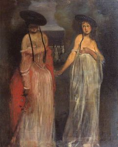 William Rothenstein - zwei frauen