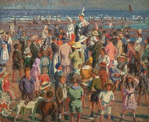 William Samuel Horton - Punsch auf dem Strand bei Broadstairs