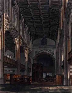William Westall - im inneren von Str . Mary-s Kirche , Cambridge