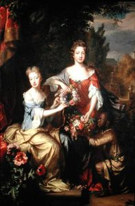 Willem Wissing - porträt von lady Frances Dame conings und lady katherine jones