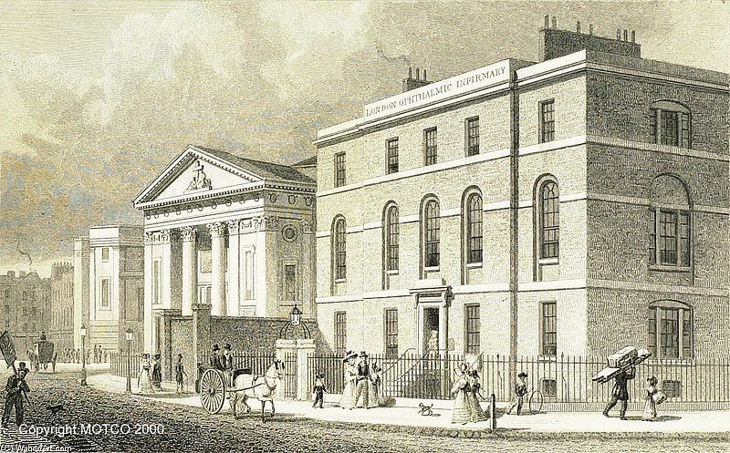 London Ophthalmic Infirmary, Finsbury von Thomas Hosmer Shepherd (1792-1864, United Kingdom)