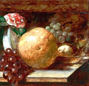 William Etty - Obst ( grapefruit und orangen )