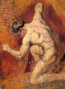 William Etty - Männlicher Akt -