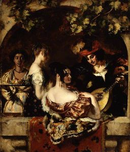 William Etty - Der Lautenspieler