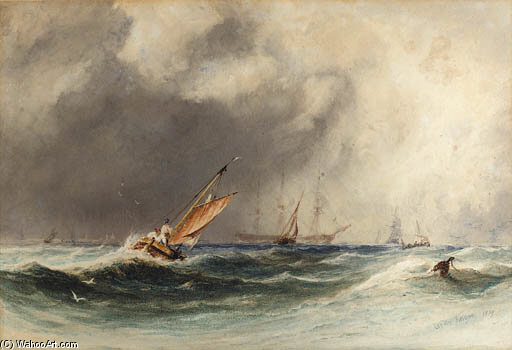 aus boulogne von Charles Bentley (1805-1854, United Kingdom)