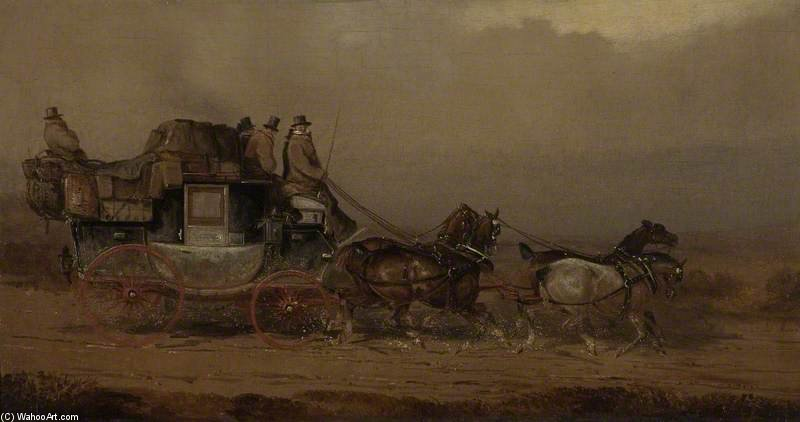 der bristol auf london trainer von Charles Cooper Henderson (1803-1877, United Kingdom)