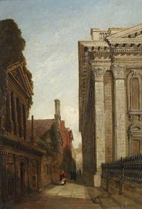Joseph Murray Ince - Der Senat Passage, Cambridge, mit dem Senat House And Caius College