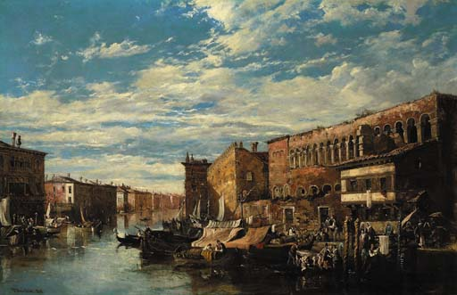 der grund kanal Venedig  von William Oliver (1805-1853, United Kingdom)