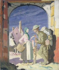 William Newenham Montague Orpen - adam und eva bei `péronne`