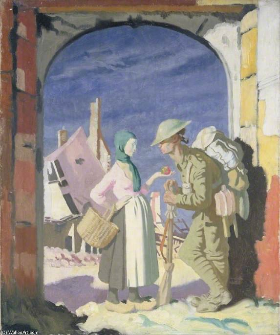 adam und eva bei `péronne` von William Newenham Montague Orpen (1878-1931, Ireland)