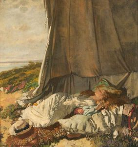 William Newenham Montague Orpen - nachmittag Schlafen