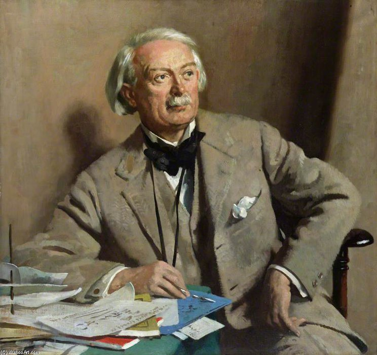 david lloyd george , 1st Graf Lloyd-george von William Newenham Montague Orpen (1878-1931, Ireland)