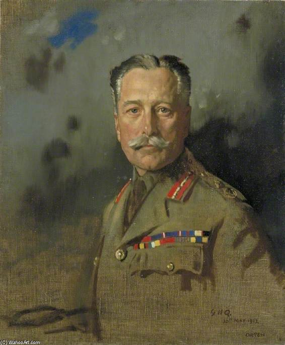 feldmarschall sir douglas haig von William Newenham Montague Orpen (1878-1931, Ireland)