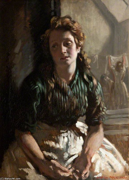 anhaltend von William Newenham Montague Orpen (1878-1931, Ireland)