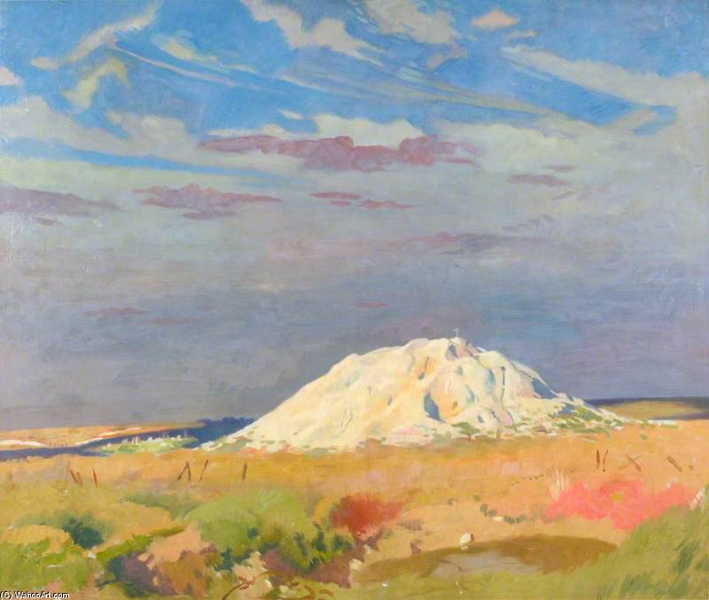 die butte Von Warlencourt von William Newenham Montague Orpen (1878-1931, Ireland)