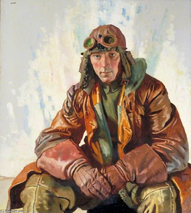 Der Non-commissioned offizier pilot , Königlich fliegende korps von William Newenham Montague Orpen (1878-1931, Ireland)