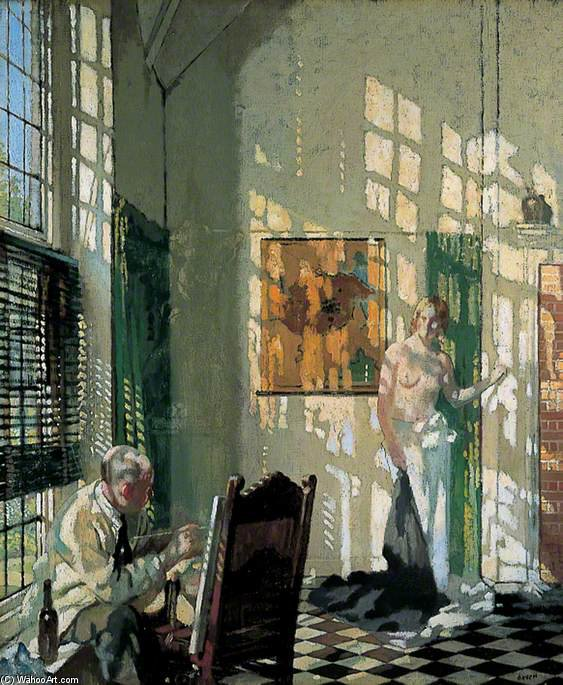der studio von William Newenham Montague Orpen (1878-1931, Ireland) | Museum Qualität Reproduktionen | WahooArt.com