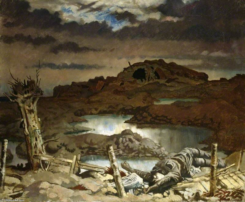 Zonnebeke von William Newenham Montague Orpen (1878-1931, Ireland)