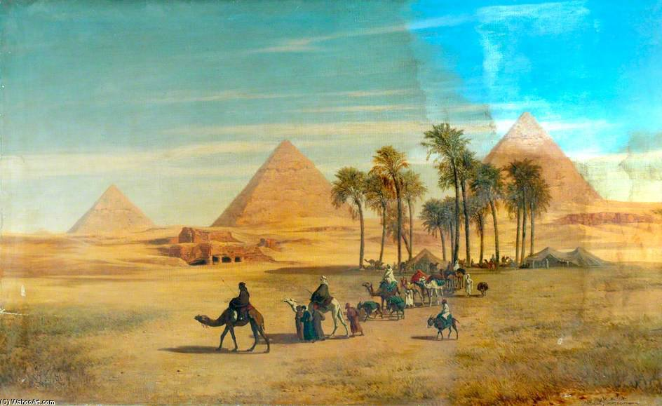 Piramid Of Giza Canvas Painting