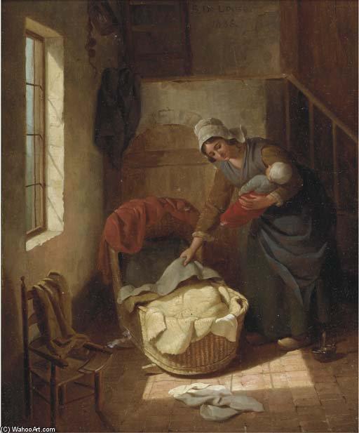 zeit f r bett von basile de loose 1809 1885 belgium malerei kopie. Black Bedroom Furniture Sets. Home Design Ideas