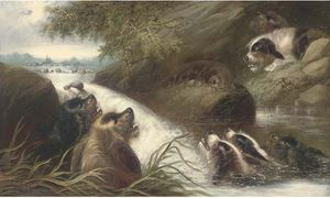 George Armfield (Smith) - die cornered otter