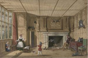 Joseph Nash The Younger - Earl of Leicester In The Trophy Room At Kenilworth