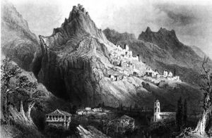 William Henry Bartlett - Mystras in der Nähe von Sparta