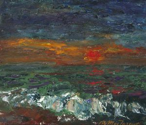 William Mactaggart - frostig Sonnenuntergang