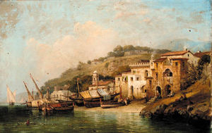 William Wyld - Sorrento in der Nähe von Neapel