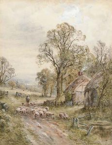 Henry John Kinnaird - A Sussex Lane; A Country Lane, Perth