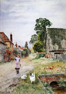 Henry John Yeend King - The Goose Girl-