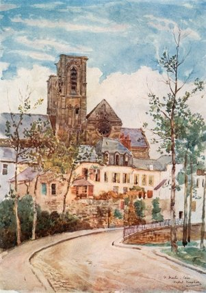 Str . Martin , Laon von Herbert Menzies Marshall (1841-1913, United Kingdom)