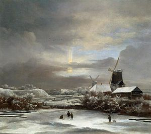 Jacob Isaakszoon Van Ruisdael (Ruysdael) - winterlandschaft